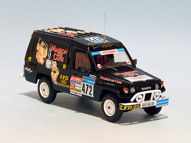toyota bj75 maison du caf paris dakar 1988. Black Bedroom Furniture Sets. Home Design Ideas